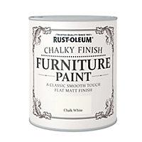 Rust-Oleum Chalk white Chalky effect Matt Furniture paint, 750ml