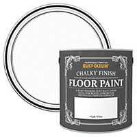 Rust-Oleum Chalk white Chalky Matt Floor paint 2.5L