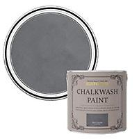 Rust-Oleum Chalkwash Dark concrete Flat matt Emulsion paint, 2.5L