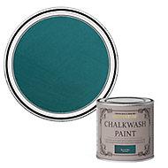 Rust-Oleum Chalkwash Peacock blue Flat matt Emulsion paint, 125ml