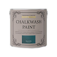 Rust-Oleum Chalkwash Peacock blue Flat matt Emulsion paint, 2.5L