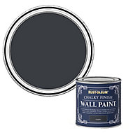 Rust-Oleum Chalky Finish Wall Graphite Flat matt Emulsion paint, 125ml