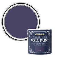 Rust-Oleum Chalky Finish Wall Ink blue Flat matt Emulsion paint, 2.5L