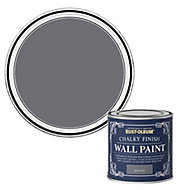 Rust-Oleum Chalky Finish Wall Marine grey Flat matt Emulsion paint, 125ml