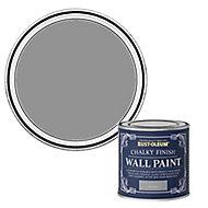 Rust-Oleum Chalky Finish Wall Pitch grey Flat matt Emulsion paint, 125ml