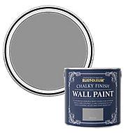 Rust-Oleum Chalky Finish Wall Pitch grey Flat matt Emulsion paint, 2.5L