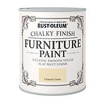 Rust-Oleum Clotted cream Chalky effect Matt Furniture paint, 750ml