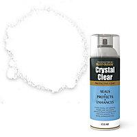 Rust-Oleum Crystal clear Clear Matt Lacquer Spray paint, 400ml
