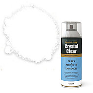 Rust-Oleum Crystal clear Clear Semi-gloss Lacquer Spray paint, 400ml
