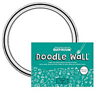Rust-Oleum Doodle wall Clear dry Gloss Erase paint kit, 0.5L