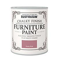 Rust-Oleum Dusky pink Chalky effect Matt Furniture paint, 750ml