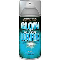 Rust-Oleum Glow in the dark Aqua Matt Multi-surface Spray paint, 150ml