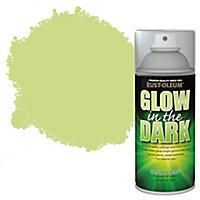 Rust-Oleum Glow in the dark Green Matt Multi-surface Spray paint, 150ml