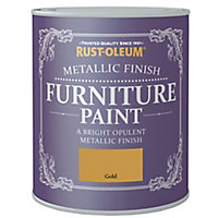 Rust-Oleum Gold effect Furniture paint, 125ml