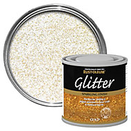 Rust-Oleum Gold glitter effect Gloss Multi-surface Special effect paint, 125ml