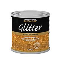 Rust-Oleum Gold glitter effect Gloss Multi-surface Special effect paint, 125ml