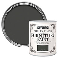 Rust-Oleum Graphite Chalky effect Matt Furniture paint, 750ml