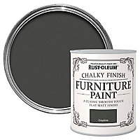 Rust-Oleum Graphite Chalky effect Matt Furniture paint, 750ml