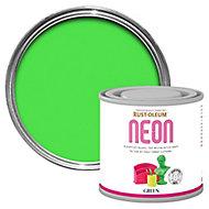 Rust-Oleum Green Matt Multi-surface Neon paint, 125ml