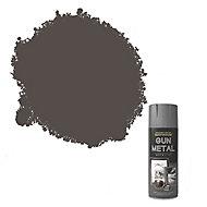 Rust-Oleum Gun metal Metallic effect Multi-surface Spray paint, 400ml