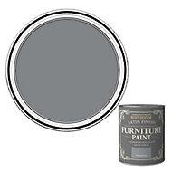 Rust-Oleum Mineral grey Satin Furniture paint, 750ml