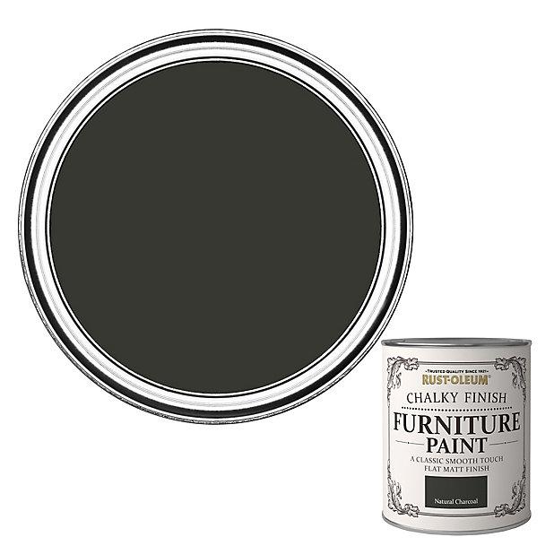 Rust Oleum Natural Charcoal Flat Matt Furniture Paint 750ml Diy At B Q