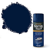 Rust-Oleum Painter's touch Navy blue Gloss Multi-surface Decorative spray paint, 400ml