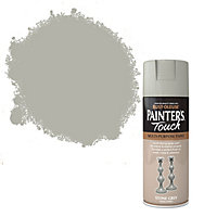 Rust-Oleum Painter's touch Stone grey Satin Multi-surface Decorative spray paint, 400ml
