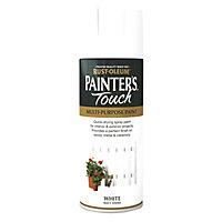 Rust-Oleum Painter's touch White Matt Multi-surface Decorative spray paint, 400ml