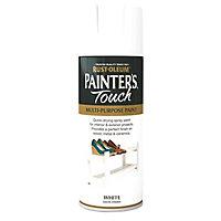 Rust-Oleum Painter's touch White Satin Multi-surface Decorative spray paint, 400ml