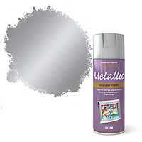 Rust-Oleum Silver effect Multi-surface Spray paint, 400ml