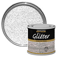 Rust-Oleum Silver glitter effect Gloss Multi-surface Special effect paint, 125ml