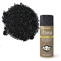 Rust-Oleum Stone Black granite Textured effect Multi-surface Spray paint, 400ml