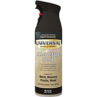 Rust-Oleum Universal Black Matt Multi-surface Spray paint, 400ml