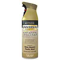 Rust-Oleum Universal Pure gold effect Multi-surface Spray paint, 400ml