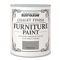 Rust-Oleum Winter grey Chalky effect Matt Furniture paint, 750ml