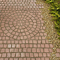 Rustic red Carpet stone 0.5m², Pack of 30