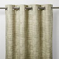 Ruvor Beige Abstract Blackout Eyelet Curtain (W)167cm (L)228cm, Single
