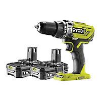 Ryobi ONE+ 18V 1.5Ah Li-ion Cordless Combi drill 2 batteries R18PD3-215SK