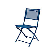 Saba Abyss blue Metal Chair