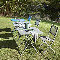 Saba Kaki green Metal Chair