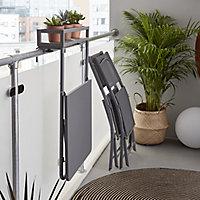 Saba Steel grey Metal Chair