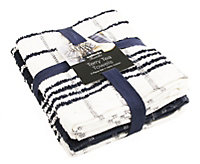 Sabichi Black & white tea towel bale, Set of 3