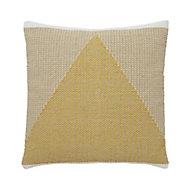 Sagar Triangle Yellow Cushion (L)45cm x (W)45cm