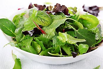 salad leaves in a bowl