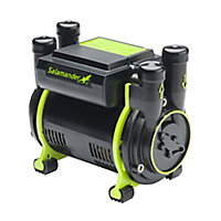 Salamander Pumps Twin 2 bar Shower pump (H)160mm (W)120mm (L)185mm