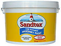 Sandtex Pure brilliant white Textured Masonry paint, 10L