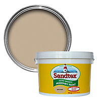 Sandtex Ultra smooth Mid stone Masonry paint, 10L