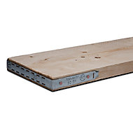 Sawn Softwood Scaffold board (L)1.8m (W)0.23m (T)38mm , Pack of 3