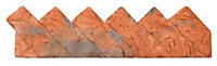 Sawtooth Sawtooth Red Paving edging (H)140mm (T)100mm, Pack of 30